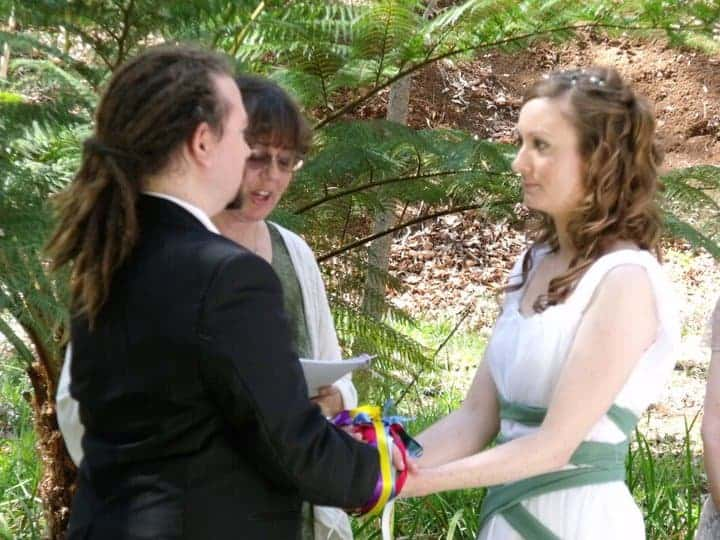 Handfasting is an ancient Celtic marriage custom