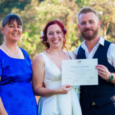 Perth couple get married in Guildford with some help from celebrant Ishara
