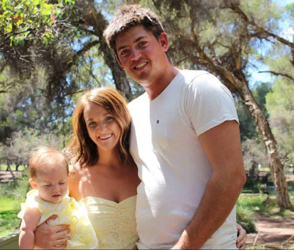 Couple welcomes their first baby with a civil ceremony in Whiteman Park, Perth, Western Australia