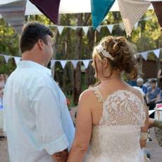 Couple at a bush wedding, Nanga Bush Camp, WA