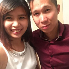 Asian couple marry in a local Northbridge Chinese restaurant with Perth celebrant Ishara
