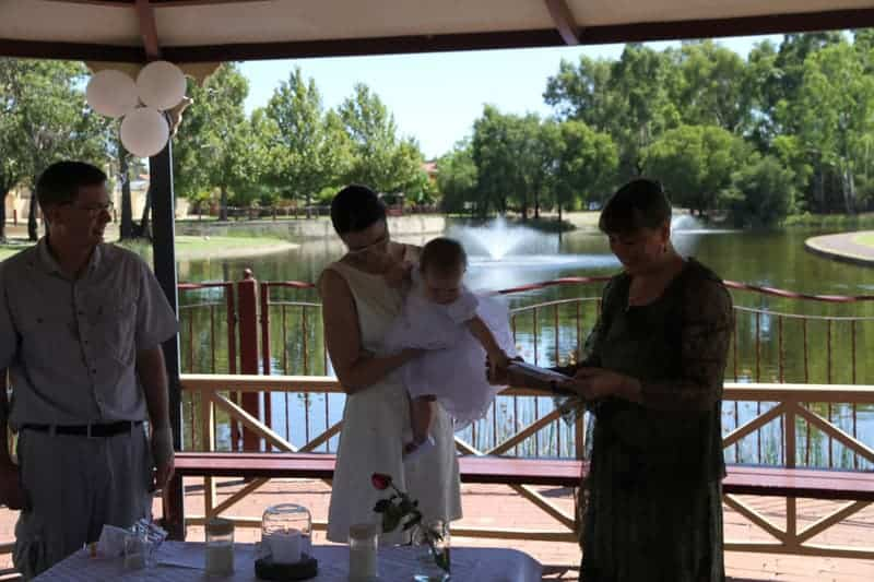 Perth celebrant Ishara can custom design a naming ceremony to suit your beliefs and values