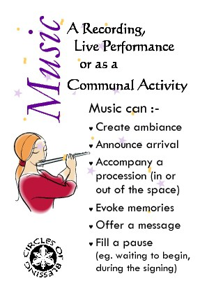 Music adds atmosphere to a ceremony