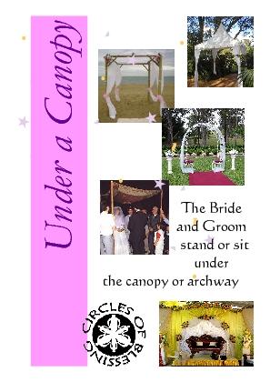 Wedding arch or wedding canopy as symbolic furniture for a wedding ceremony