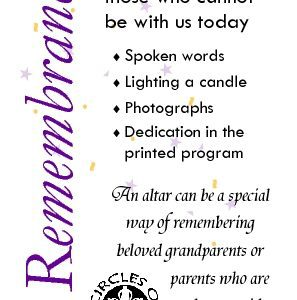 Remembrance of absent family or friends