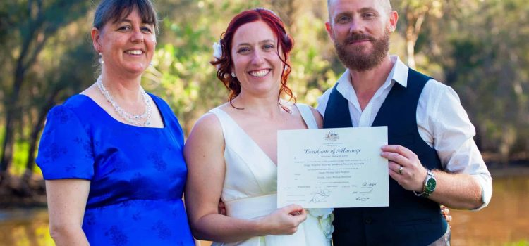 Married by the river in Guildford WA