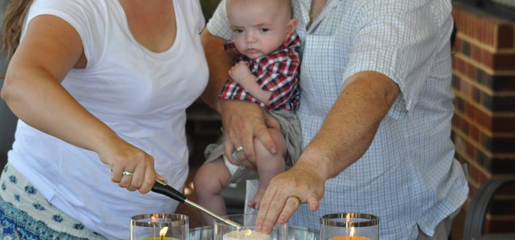 Blessings for a (miracle) baby ~ A family celebration at home. Darch, Western Australia, January 2010.
