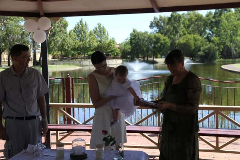 Civil Celebrant Baby Naming Ceremony in Perth WA