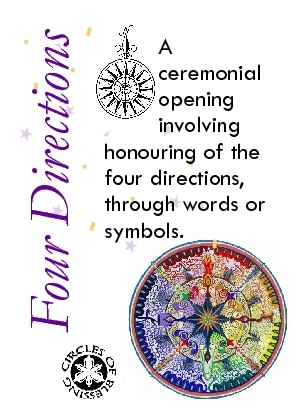 Honouring the four directions to open the ceremony
