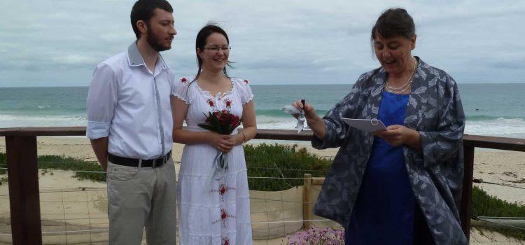 Australian beach wedding at Floreat Beach