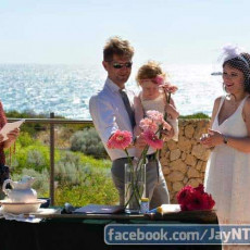 This renewal of vows ceremony incorporated a name giving for the couple's young daughter.