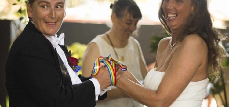Two women 'tie the knot'