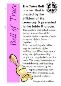 Irish wedding custom - a bell of truce rung to bring couple back to harmony
