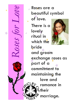 Use of roses in wedding ceremony
